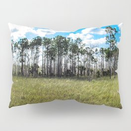 Cypress Trees and Blue Skies Pillow Sham