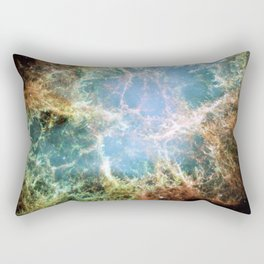 NASA Hubble Space Telescope Poster - The Crab Nebula Rectangular Pillow
