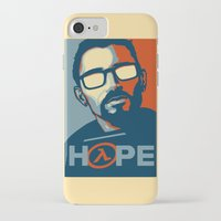 half life iPhone & iPod Cases featuring Half Life Hope by The Strynx