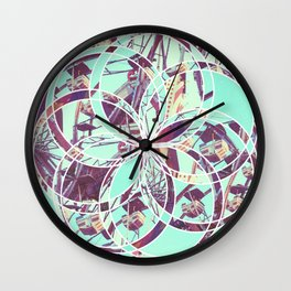 Los Angeles Ferris Wheel Abstract Mosaic Wall Clock