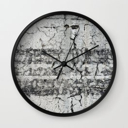 Urban Texture Photography - Road Markings Tire Tracks Wall Clock