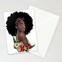 The Power of Natural Afro Beauty Stationery Cards
