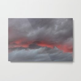 Layer of Red in the Sky Metal Print
