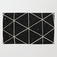 solid Area & Throw Rugs featuring Geodesic by Terry Fan