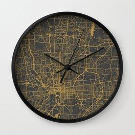 Columbus map Wall Clock