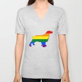 Rainbow Spaniel Unisex V-Neck