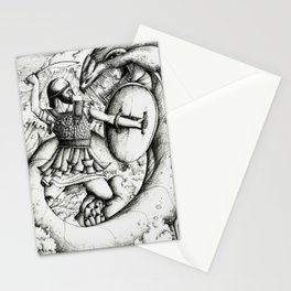 Perseus fighting the sea monster Stationery Cards