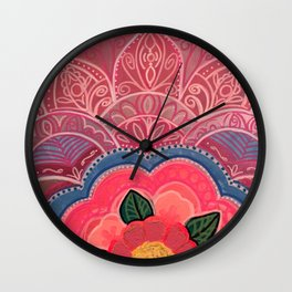 Pink Is The Word Wall Clock