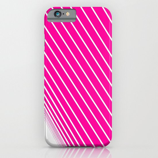 pink & white stripes iPhone & iPod Case