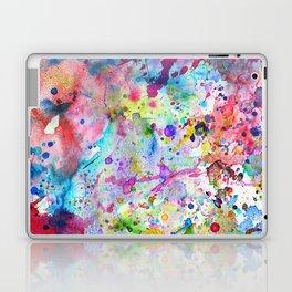 Abstract Bright Watercolor Paint Splatters Pattern Laptop & iPad Skin