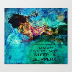 Slippery Canvas Print