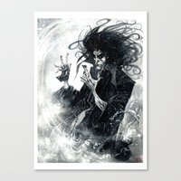 sandman Canvas Prints featuring Sandman 2 by Roger Cruz