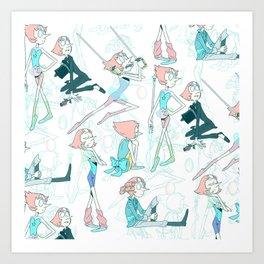 Pearl Pattern Art Print