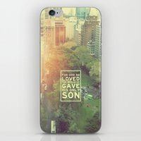 """pocketfuel iPhone & iPod Skins featuring John 3:16 """"For God so loved the world"""" (Version 2) by Pocket Fuel"""