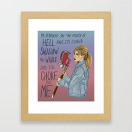 Hellmouth Girl Framed Art Print