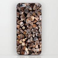 pocket fuel iPhone & iPod Skins featuring WOODEN FUEL by Connor Merrick