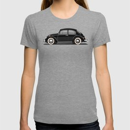 Legendary Classic Black Bug Vintage Retro Cool German Car Wall Art and T-Shirts T-shirt