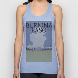 Burkina Faso Travel print Unisex Tank Top