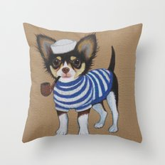Chihuahua - Sailor Chihuahua Throw Pillow