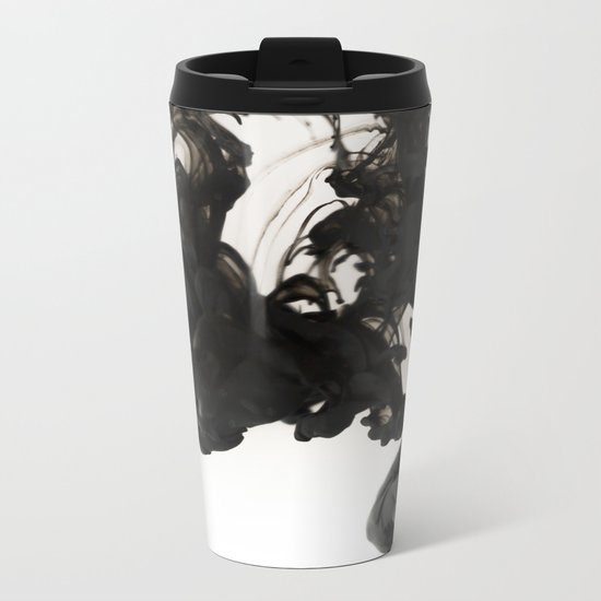 Ink #abstract #black Metal Travel Mug