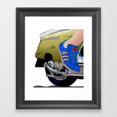 Kick off in style Framed Art Print
