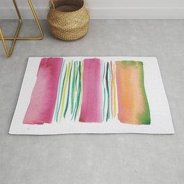 4  |181026 Lines & Color Block | Watercolor Abstract | Modern Watercolor Art Rug