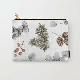 Retro Cozy Winter Cabin Water-colour Pattern Carry-All Pouch