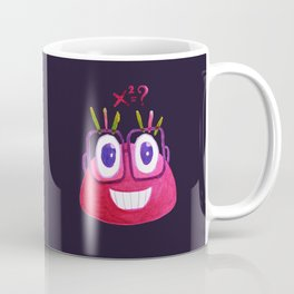 Cute Geek Mathematician Watercolor Candy Coffee Mug