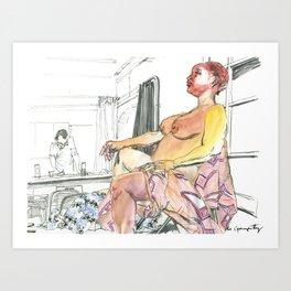 Figure Drawing, 66 Art Print