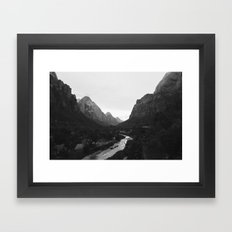 Zion black and white Framed Art Print