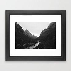 Zion black and white Framed Art Print