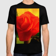 Rote Rose MEDIUM Mens Fitted Tee Black
