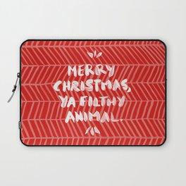 Merry Christmas, Ya Filthy Animal – Red Laptop Sleeve