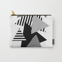 Geometric - Triangles, B&W Party Carry-All Pouch