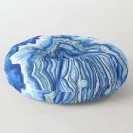 Blue Geode Floor Pillow