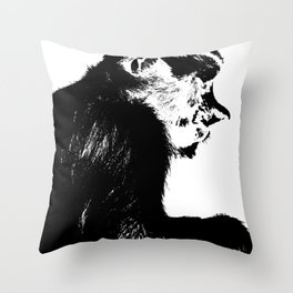 Juvenile proboscis monkey Throw Pillow