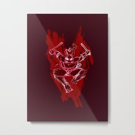 TMNT Rock: Raph Metal Print