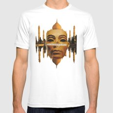 Symmetrical Forces White Mens Fitted Tee SMALL