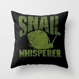 Snail Whisperer Throw Pillow