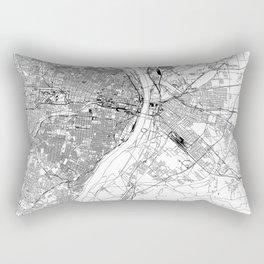 St. Louis White Map Rectangular Pillow