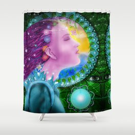 Cosmic Connection Shower Curtain
