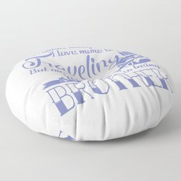Traveling Brother Floor Pillow