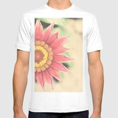 Red flower MEDIUM Mens Fitted Tee White