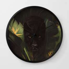 Hello Panther! Wall Clock