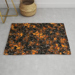 Ancient Amber Tiles Set in Gothic Metal Rug