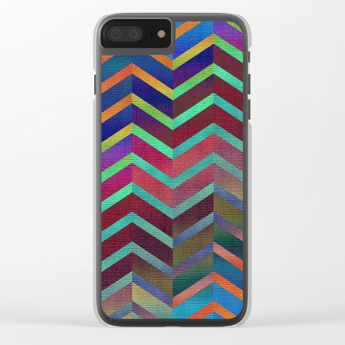 Color Transition Chevron Clear iPhone Case