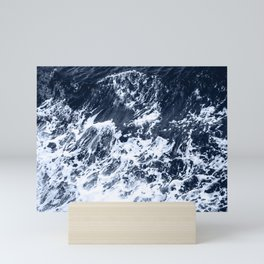 Marble Ocean Indigo Mini Art Print