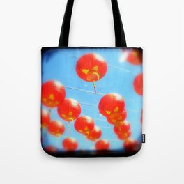 Red Lanterns Tote Bag