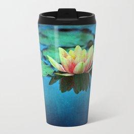 waterlily textures Metal Travel Mug