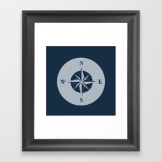Nautical Compass Framed Art Print